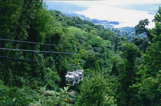 Sky Tram with lake view